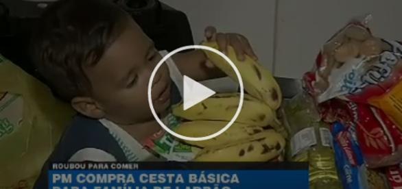 PM emociona pai que roubou para o filho comer