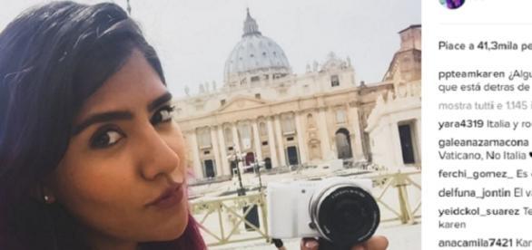 Una foto del perfil Instagram de Karen Polinesio