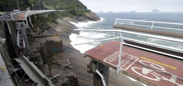 Ciclovia Tim Maia desabou em 21 de abril matando duas pessoas