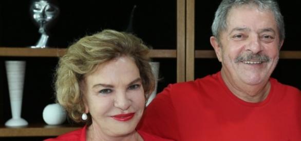 Marisa Letícia e ex-presidente Lula