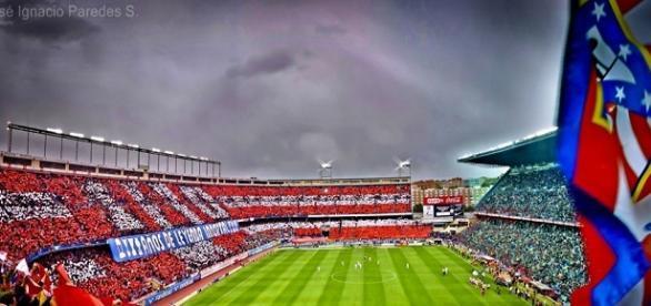 """El estadio Vicente Calderón, casa de los """"colchoneros""""."""