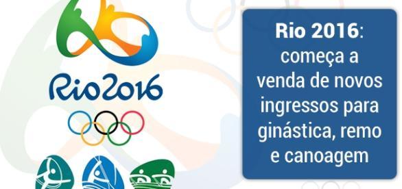 Rio 2016: novo lote de ingressos para ginástica, remo e canoagem.
