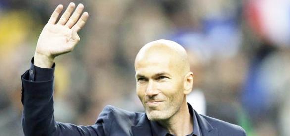 Zidane como entrenador del Real Madrid