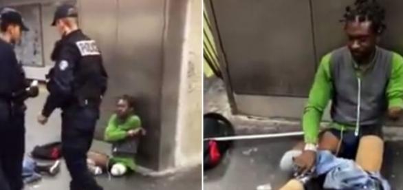 Comportament inuman față de o persoană cu handicap - Capturi ecran Facebook - Cont Jean-Didier Bakekolo