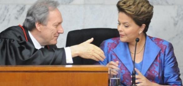 Ministro do STF e Dilma - Foto/Google