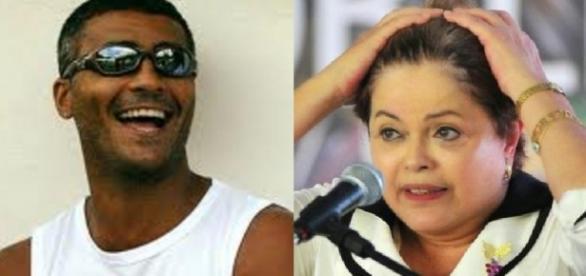 Romário e Dilma Rousseff - Foto/Montagem