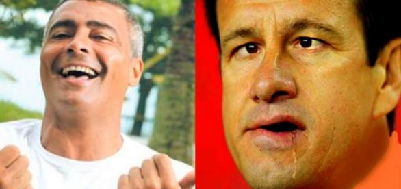 Romário e Dunga - Foto/Montagem