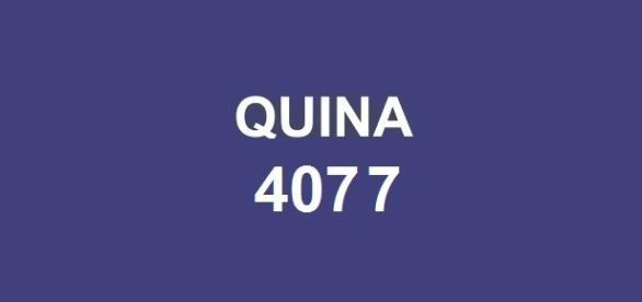 Prêmio Quina 4077; Dezenas anunciadas no Espaço Caixa Loterias.