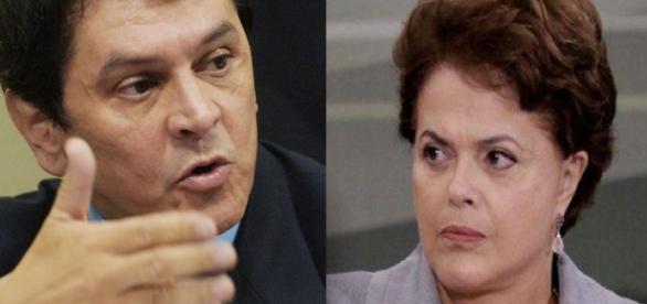 Roberto Jefferson e Dilma Rousseff - Foto/Montagem