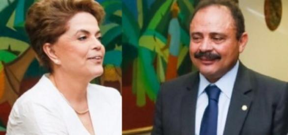 Dilma e Maranhão - Foto/Montagem