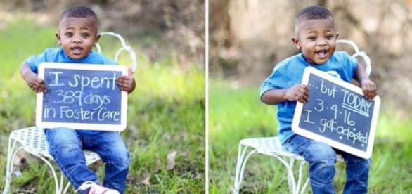 Elijah, o menor dos 4 irmãos adotados