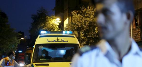 Poliţia sosită de urgenţă la la locul faptei