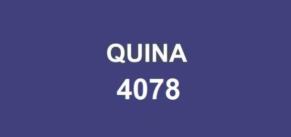 Prêmio Quina 4078; Resultado anunciado pela Caixa.
