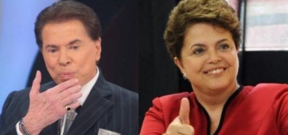 Dilma dá prêmio para Silvio Santos