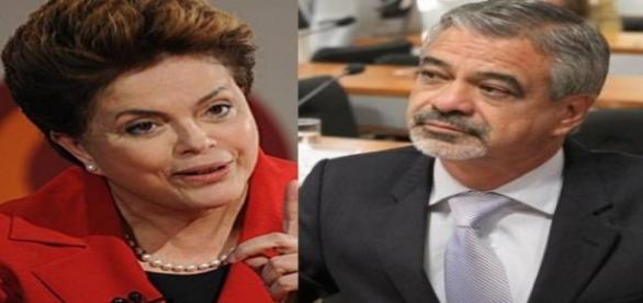 Dilma Rousseff e Humberto Costa - Foto/Montagem