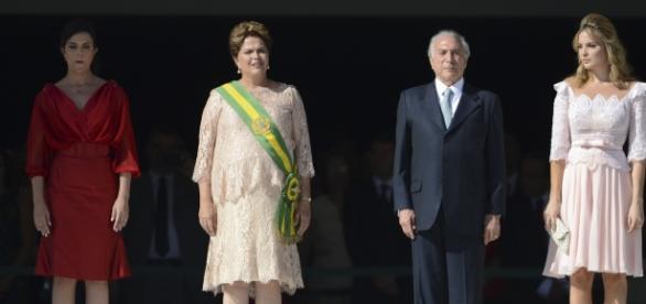 Michel e Marcela Temer na posse presidencial em 2015 (AG. Brasil)