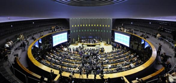 Plenário do Senado Federal, onde tramita o processo do impeachment