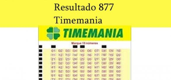 Resultado do jogo Timemania 877