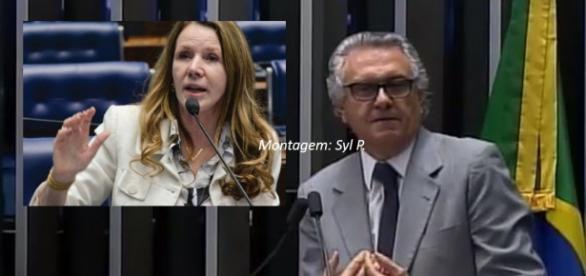 Ronaldo Caiado falou verdades que incomodaram a senadora do PC do B