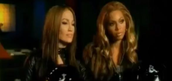 Screenshot of Jennifer Lopez and Beyonce. JLoGreece1/YouTube.
