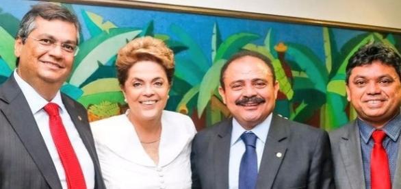 Waldir e Dilma no centro: aliados na democracia do impeachment e no golpe petista