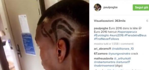 La coiffure de Paul Pogba pour L'Euro 2016