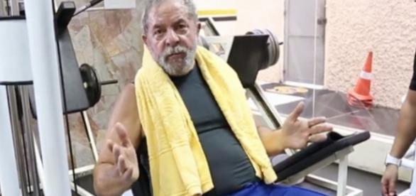Luiz Inácio Lula da Silva na academia