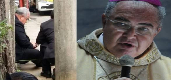 Arcebispo do Rio reza em tiroteio
