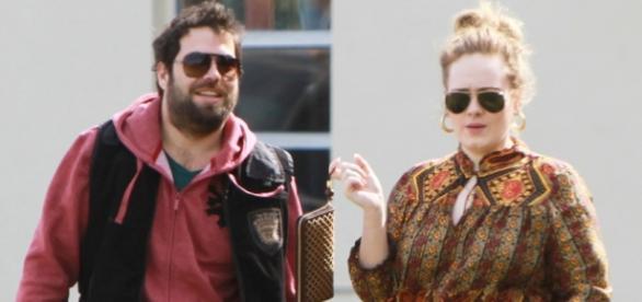 Adele e o marido, Simon Konecki Foto: Divulgação