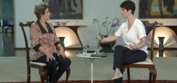 Dilma Rousseff e Mariana Godoy - Foto/Reprodução: RedeTV
