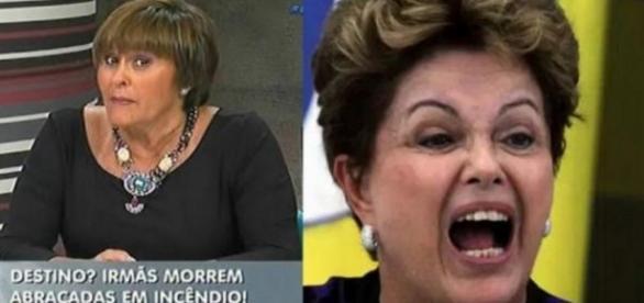 Márcia Fernandes e Dilma Rousseff - Foto/Montagem