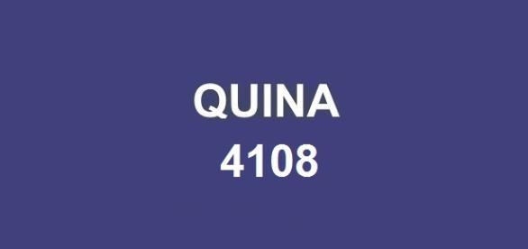 Bolada da premiação Quina 4108 estimada em R$ 5 milhões.