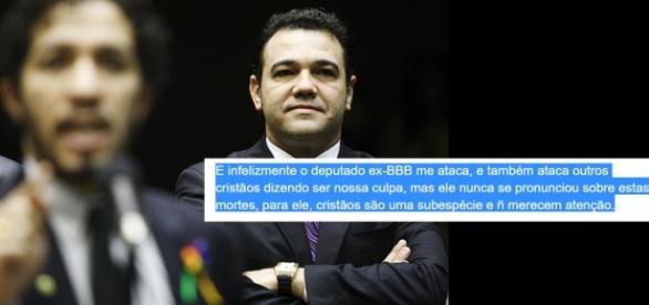 Bolsonaro e Jean Wyllys - Foto/Reprodução