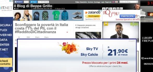Homepage Il blog di Beppe Grillo