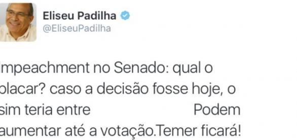 Ministro comemora votação contra Dilma