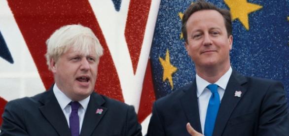 Boris Johnson- fostul primar al Londrei și premierul britanic David Cameron