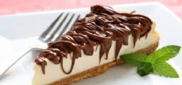 Cheesecake senza cottura alla nutella e stracciatella
