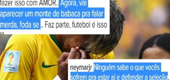 Neymar chama críticos de babacas que falam merda