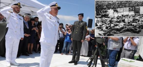 Oficiais gregos prestam homenagem aos mortos em massacre de Distomo