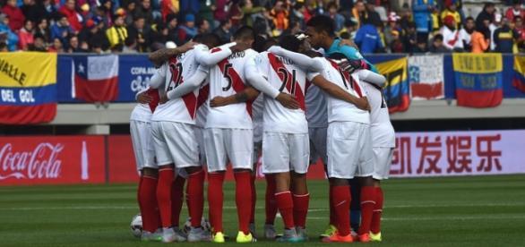 Seleção Peruana de Futebol na edição passada da Copa América