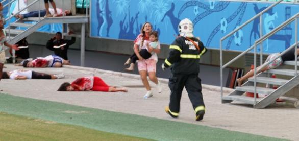 Simulação de ataque terrorista em Salvador foi o maior já realizado na América Latina. Foto: Carla Ornelas/GOVBA