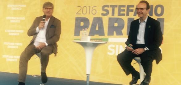 Stefano Parisi con Paolo Del Debbio a Bonola