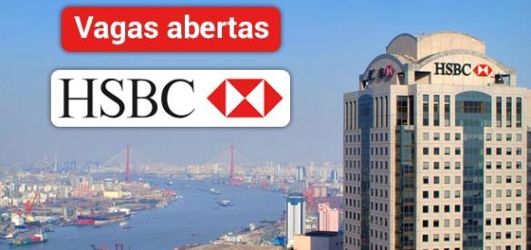 Vagas abertas na HSBC. Foto Reprodução Mori.