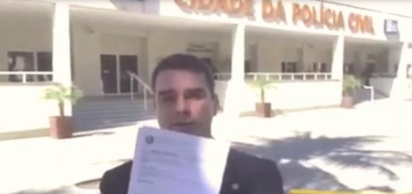 Deputado divulgou vídeo após lavrar boletins de ocorrência