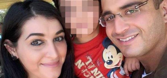 El asesino de Orlando con su esposa y su hijo