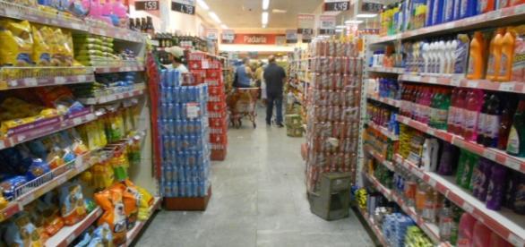 Fotografía de un supermercado.