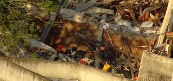 Igreja evangélica desaba em Diadema e deixa vários feridos