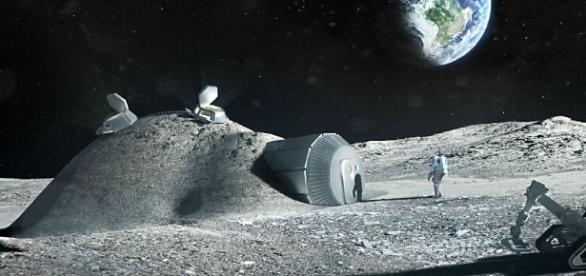 Imagem 3D da suposta base lunar (Foto: ESA/Divulgação)