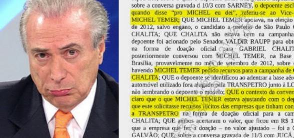 Michel Temer vira alvo de delação de Sérgio Machado