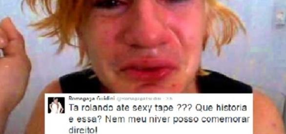 """Romagaga se pronunciou pelo Twitter a respeito da """"sextape"""" (Foto: Reprodução/Twitter)"""